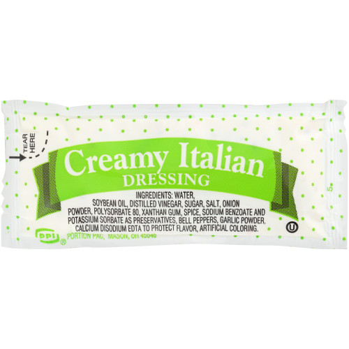 PPI Single Serve Creamy Italian Dressing, 12 gr. Pouches (Pack of 200)