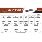 Black Chrome AN/SAE Flat Washers & Fender Washers Assortment