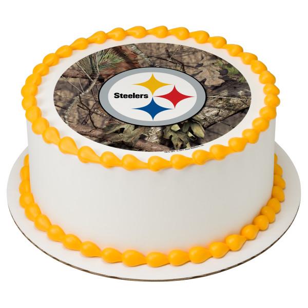 NFL Pittsburgh Steelers Mossy Oak® PhotoCake® Edible Image®