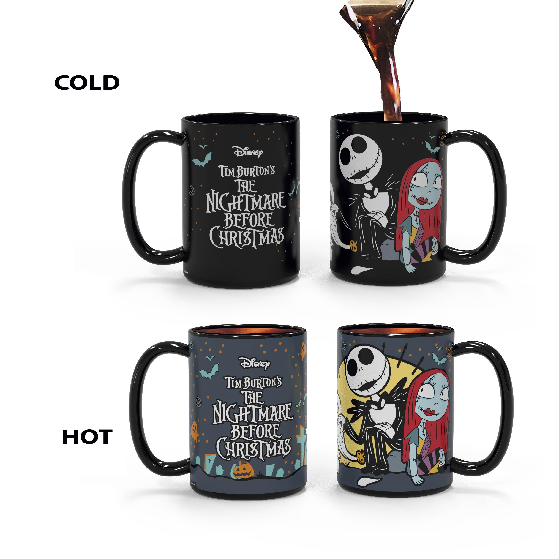 Disney The Nightmare Before Christmas 15 ounce Coffee Mug and Spoon, Jack the Pumpkin King & Sally slideshow image 5