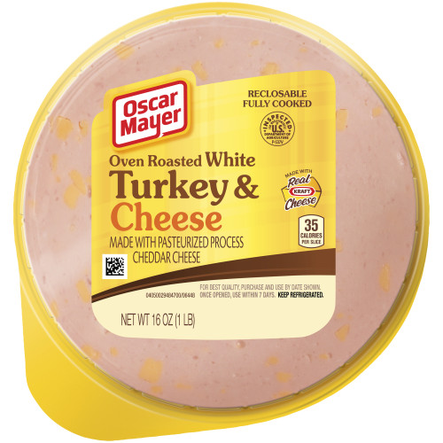 Oscar Mayer Oven Roasted White Turkey and Cheese 16 oz