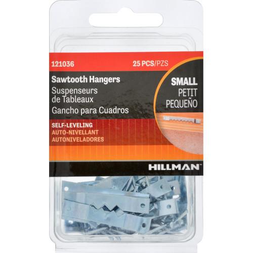 Hillman Frame Sawtooth Hanger VP 25pc