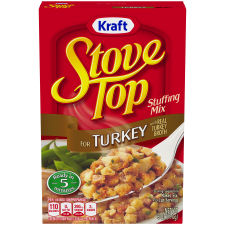 Kraft Stove Top Stuffing Mix for Turkey 6 oz Box