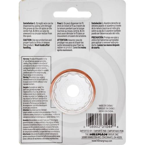 Hillman Copper Hobby Wire 18 Gauge 25'