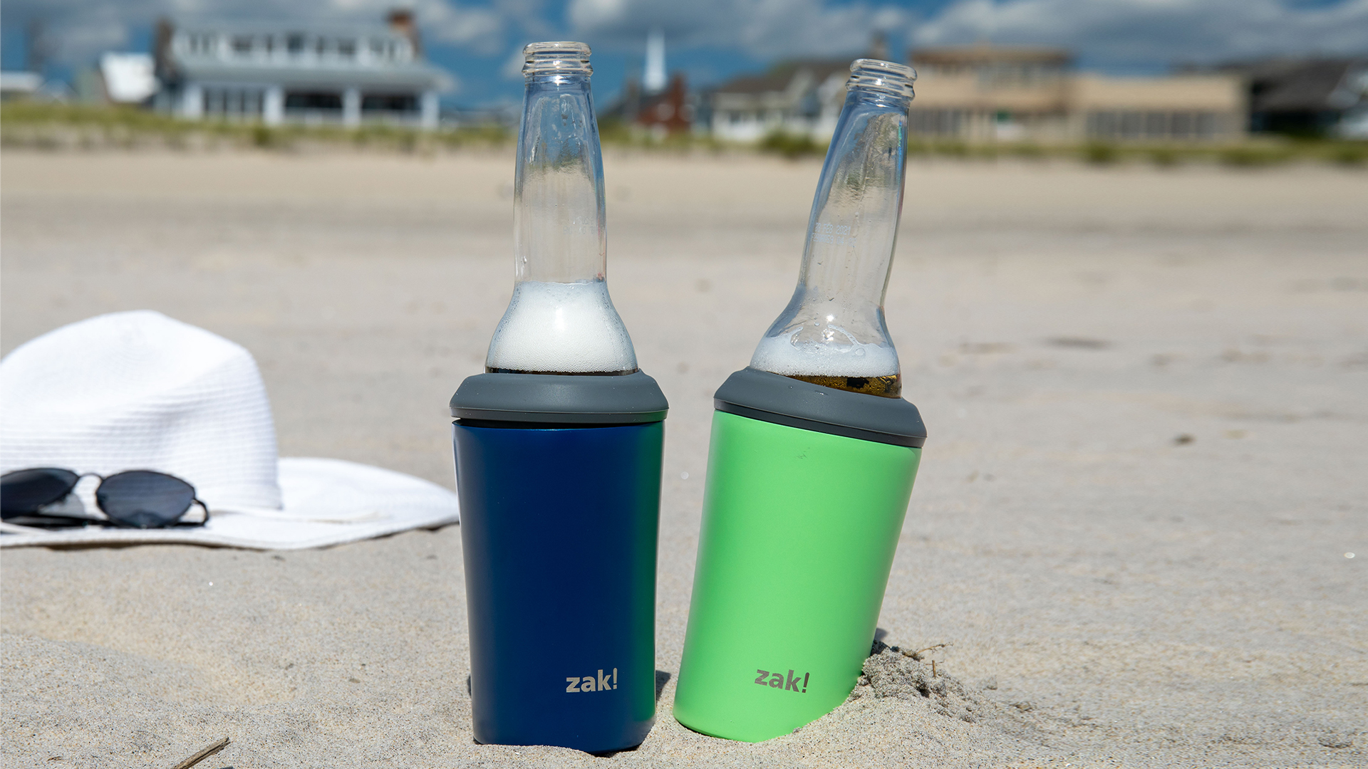 Zak Hydration 12 ounce Double Wall Stainless Steel Can and Bottle Cooler with Vacuum Insulation, Indigo slideshow image 11