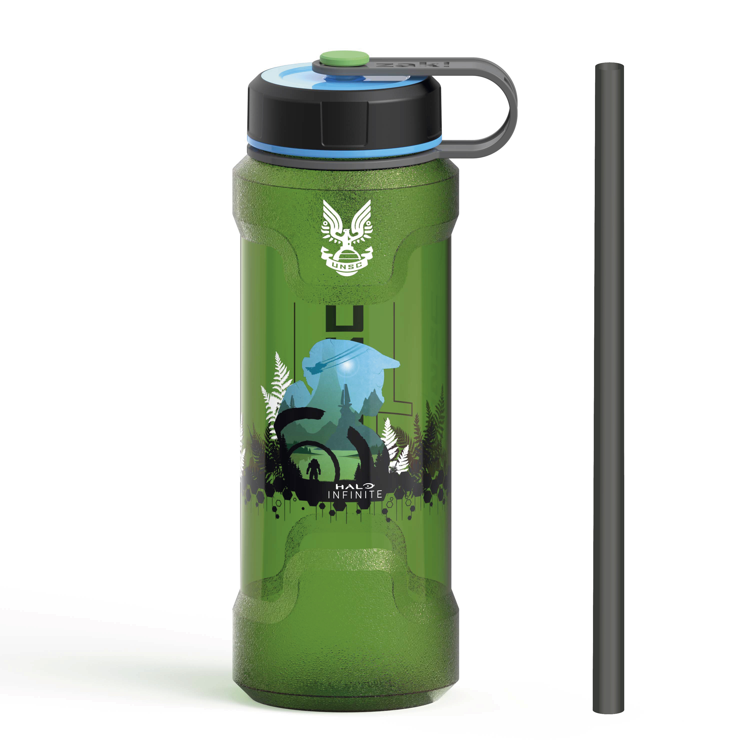Halo 36 ounce Reusable Plastic Water Bottle, United Nations Space Command slideshow image 1