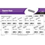 """Square Keys Assortment (5/16"""" x 1/2"""")"""