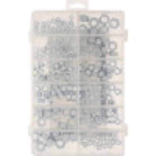 Zinc-Plated Hex Nut Assortment Kit (216-Piece)