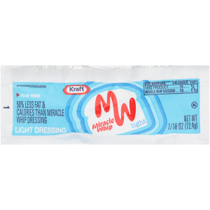 KRAFT Miracle Whip Single Serve Light Mayo Dressing, 0.44 oz. Packets (Pack of 200) image