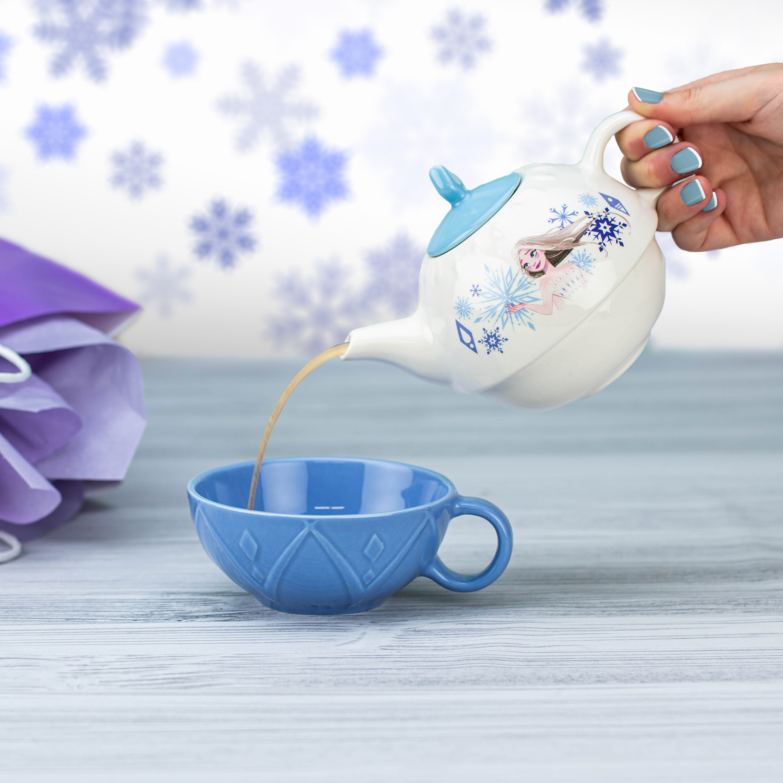 Disney Frozen 2 Movie Sculpted Ceramic Tea Set, Princess Elsa, 4-piece set slideshow image 9
