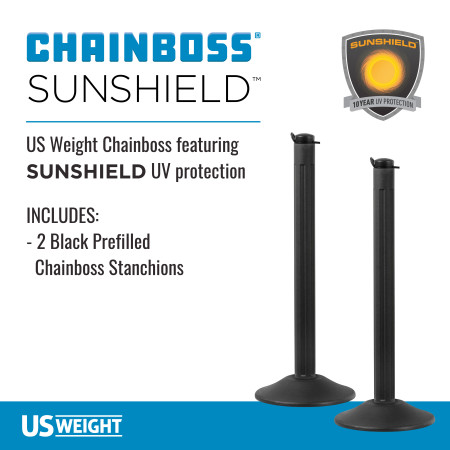 ChainBoss Stanchion - Black Filled with No Chain 2