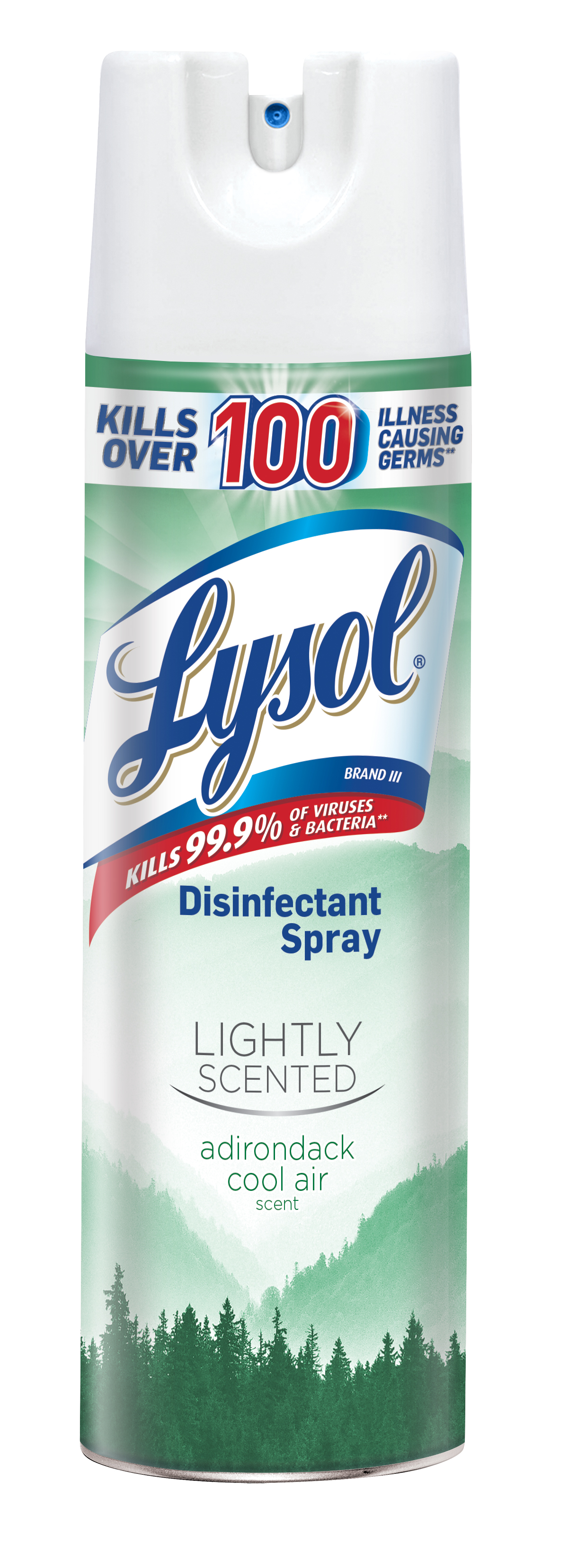 Lysol Disinfectant Spray, Lightly Scented Adirondack Cool Air, 19oz