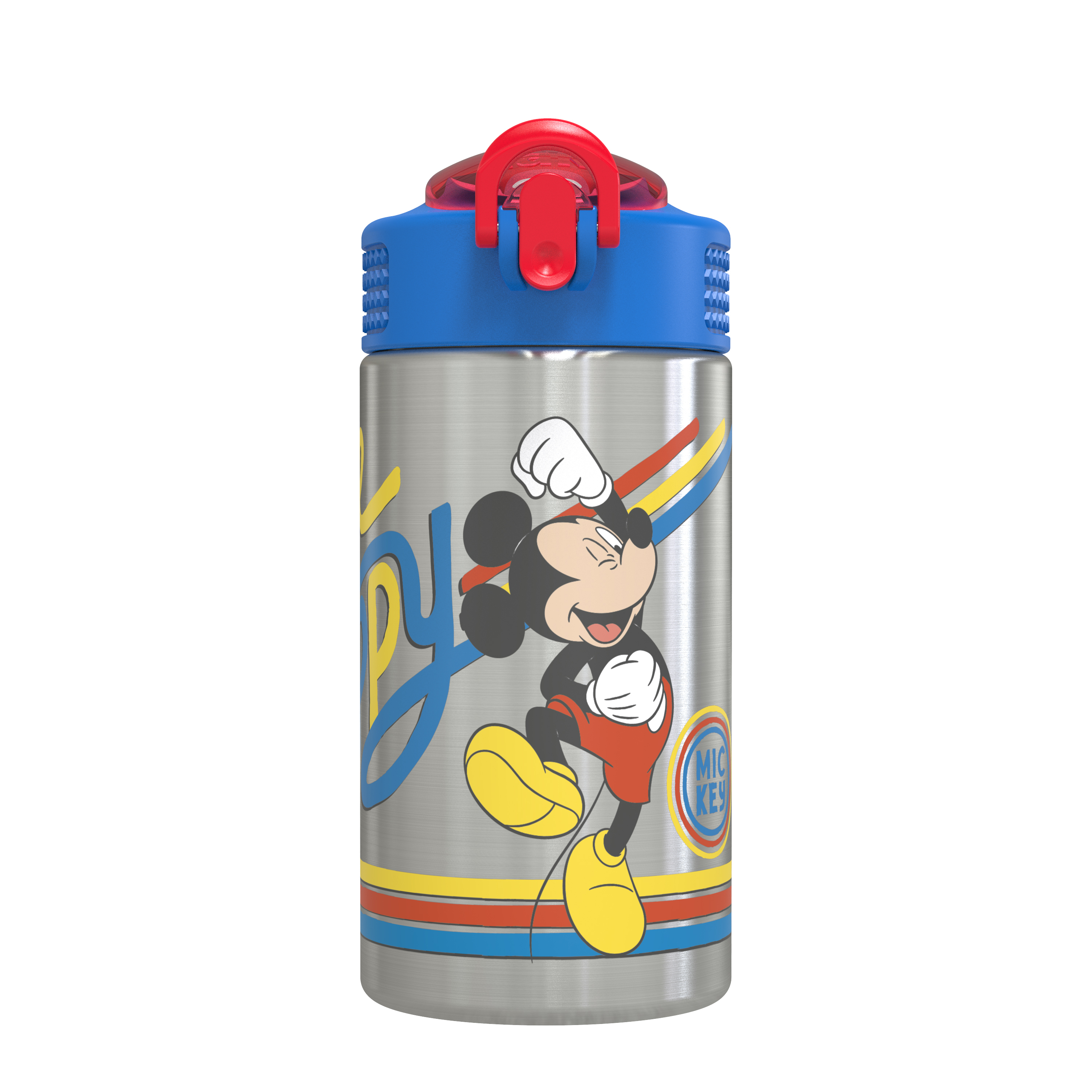 Disney 15.5 ounce Stainless Steel Water Bottle with Built-in Carrying Loop, Mickey Mouse slideshow image 1