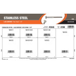 "Stainless Steel Lag Screws Assortment (1/4"" Hex Head)"