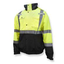 Radians SJ320 3-in-1 Durable Ripstop Bomber Jacket with Color Blocking