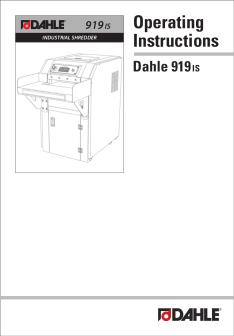 Dahle PowerTEC® 919 IS  Shredder User Guide