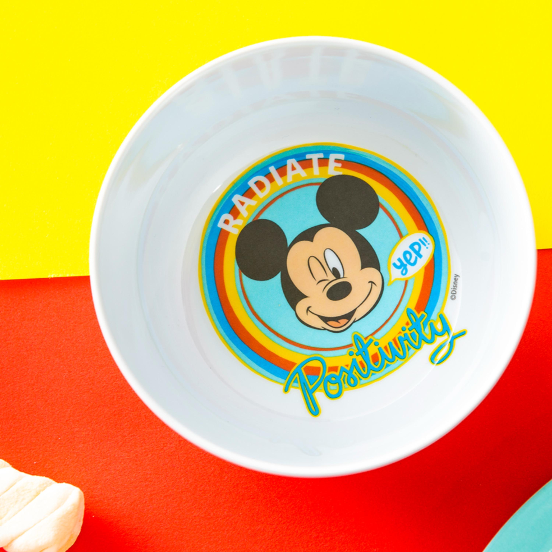 Disney Plate, Bowl, Tumbler and Flatware Set, Rainbow Mickey Mouse, 5-piece set slideshow image 2