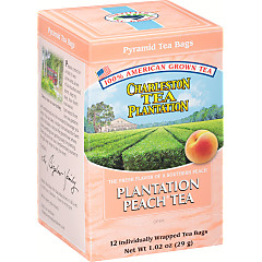 Peachy Peach Tea  Pyramid Bags- Case of 6 boxes- total of 72 teabags