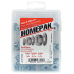 HOMEPAK Zinc-Plated Nuts & Washers Assortment Kit