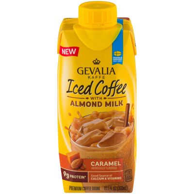 Gevalia Caramel Iced Coffee with Almond Milk 11.1 oz Jug
