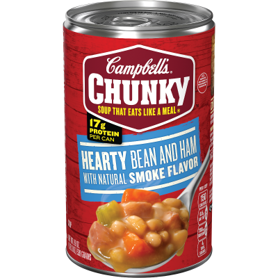 Hearty Bean and Ham with Natural Smoke Flavor Soup