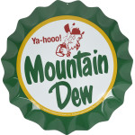 Aluminum Bottle Cap Mountain Dew, 12""