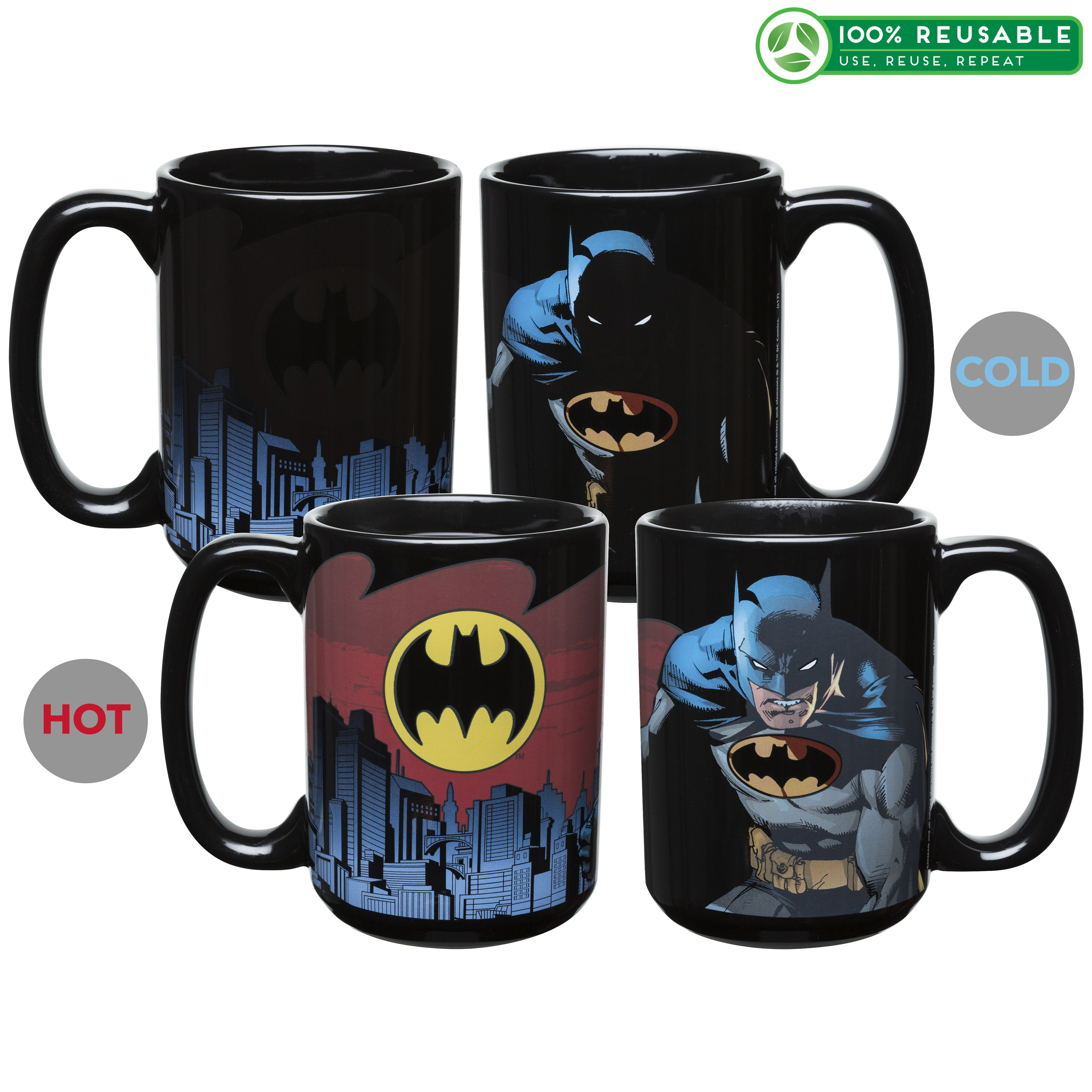 DC Comics 15 oz. Coffee Mug, Batman slideshow image 1