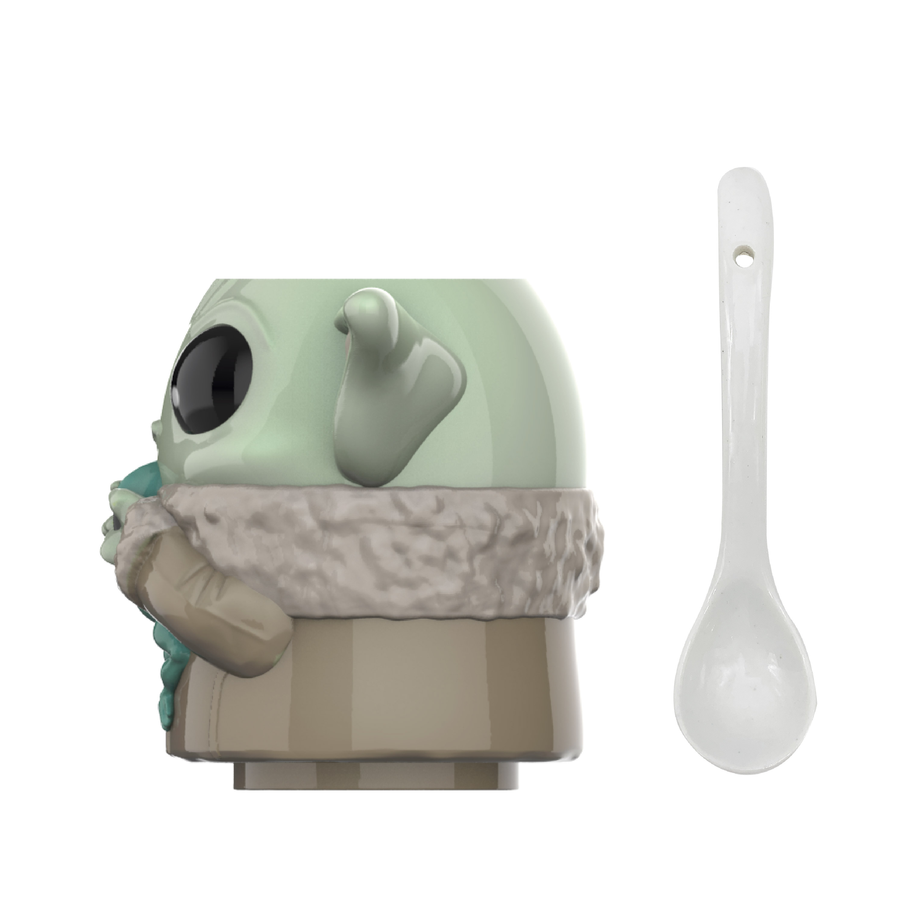Star Wars: The Mandalorian Ceramic Coffee Mug and Spoon, The Child, 2-piece set slideshow image 8