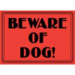 "Aluminum Beware Of Dog Sign 10"" x 14"""