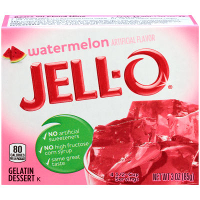 Jell-O Watermelon Gelatin Mix, 3 oz Box