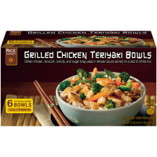 Rice Gourmet Grilled Chicken Teriyaki Bowls 6 count Box