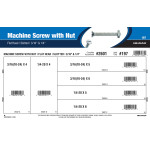 """Flat-Head Slotted Machine Screws with Nuts Assortment (3/16"""" & 1/4"""")"""