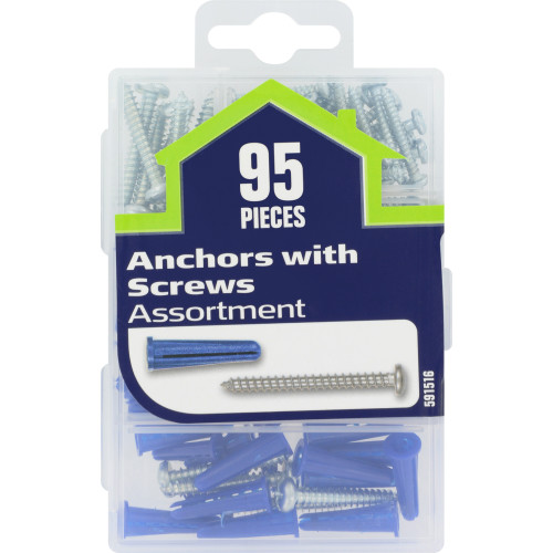Anchors with Screws Assortment Small