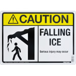 "Aluminum Falling Ice Caution Sign 10"" x 14"""