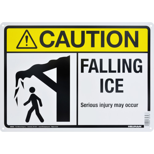 Caution Falling Ice Sign (10