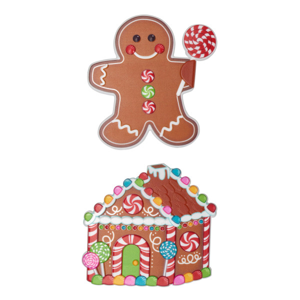 Gingerbread House and Man Layon