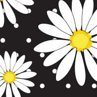 Swatch for Printed Duck Tape® Brand Duct Tape - Crazy Daisy, 1.88 in. x 10 yd.