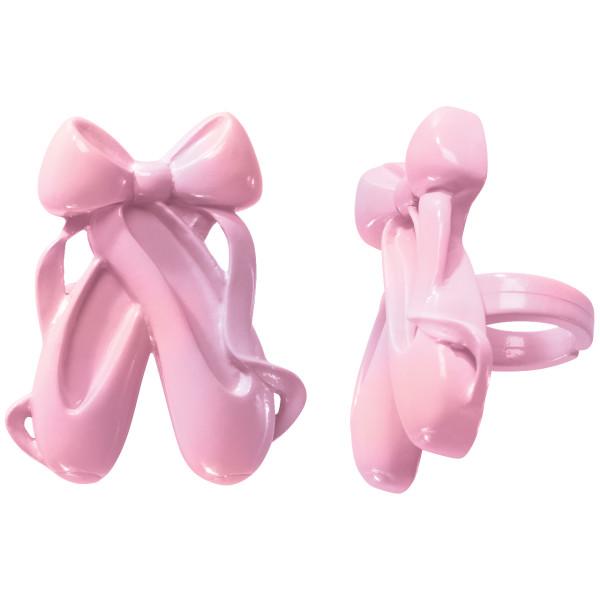 Iridescent Ballet Slipper Cupcake Rings