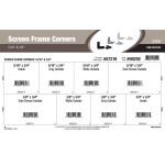 "Screen Frame Corners Assortment (5/16"" & 3/8"" Widths)"