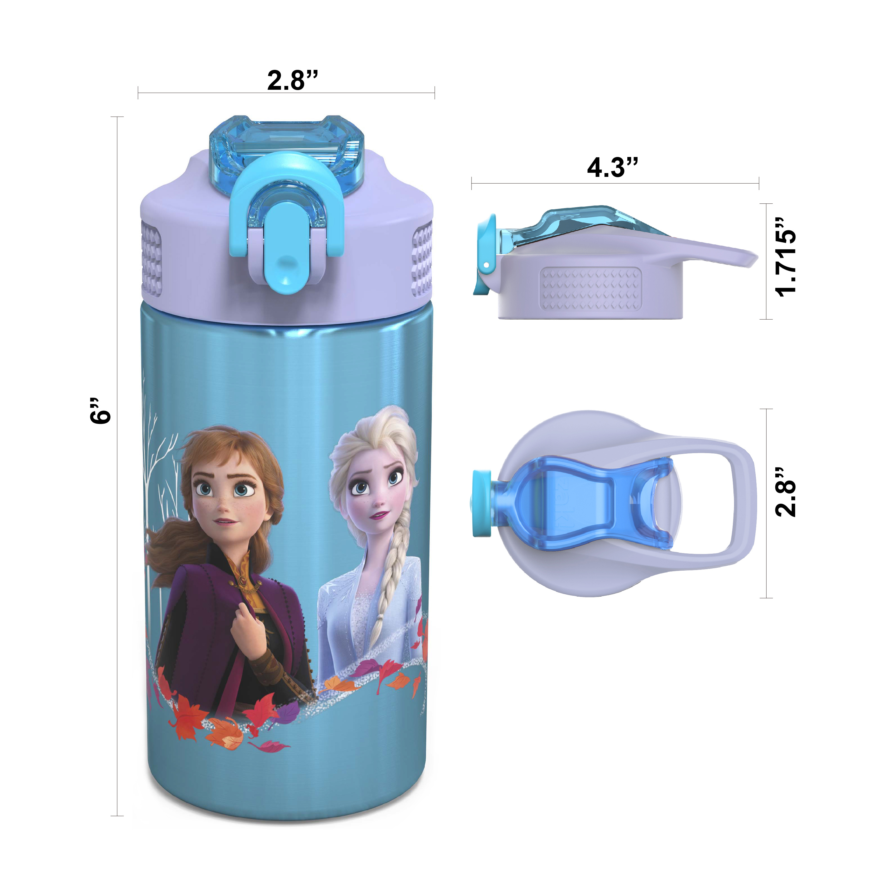 Disney Frozen 2 Movie Water Bottle, Anna , Elsa and Olaf, 2-piece set slideshow image 4