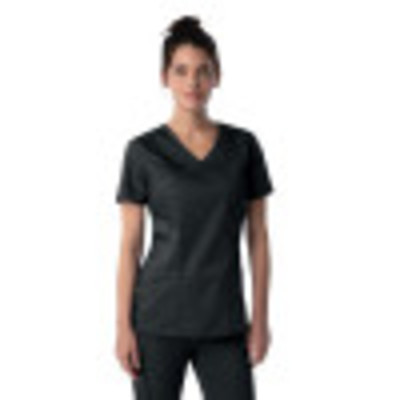 Landau ProFlex Mock Wrap Scrub Top for Women: 3 Pocket, Modern Tailored Fit, Stretch, Medical 4161-