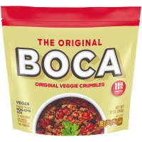 BOCA Veggie Ground Crumbles Made with NonGMO Soy 12 oz Pouch image