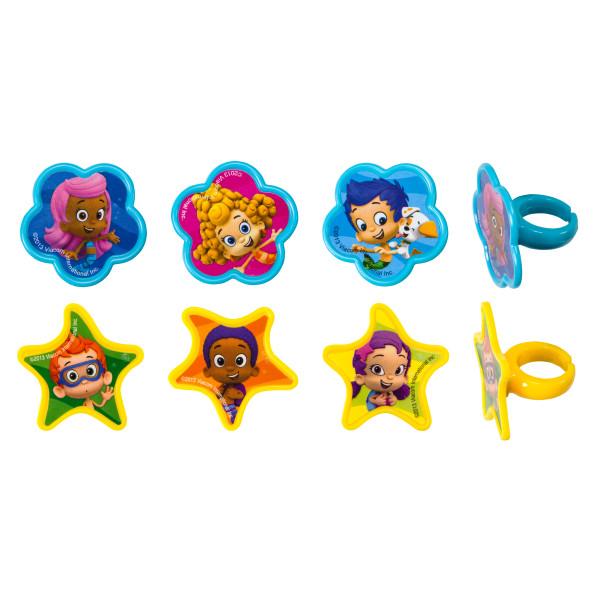 Bubble Guppies Gil, Molly and Gang Cupcake Rings