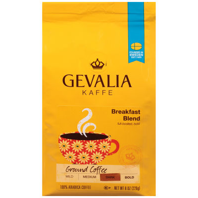 Gevalia Breakfast Blend Regular Ground Coffee 8 oz Bag