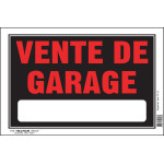 "French Garage Sale Sign (8"" x 12"")"