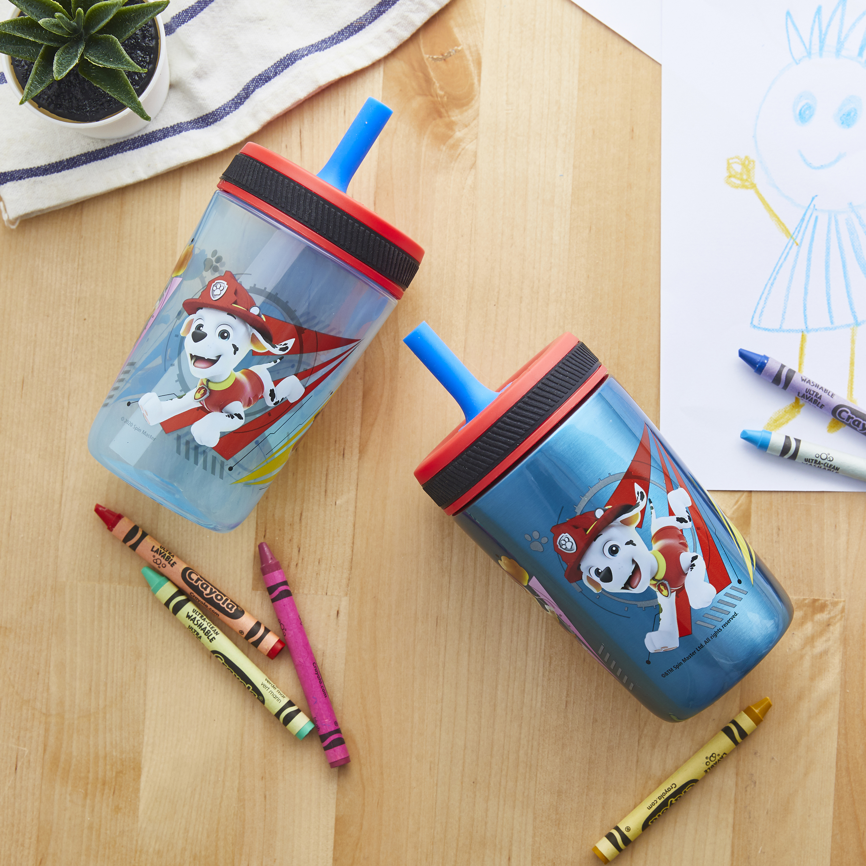 Paw Patrol 15  ounce Plastic Tumbler, Chase, Skye, Marshall and Friends, 3-piece set slideshow image 6