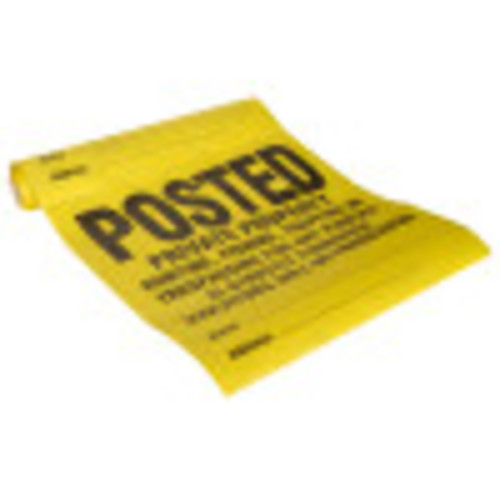 25 Pack Posted Private Property Tyvek Sign
