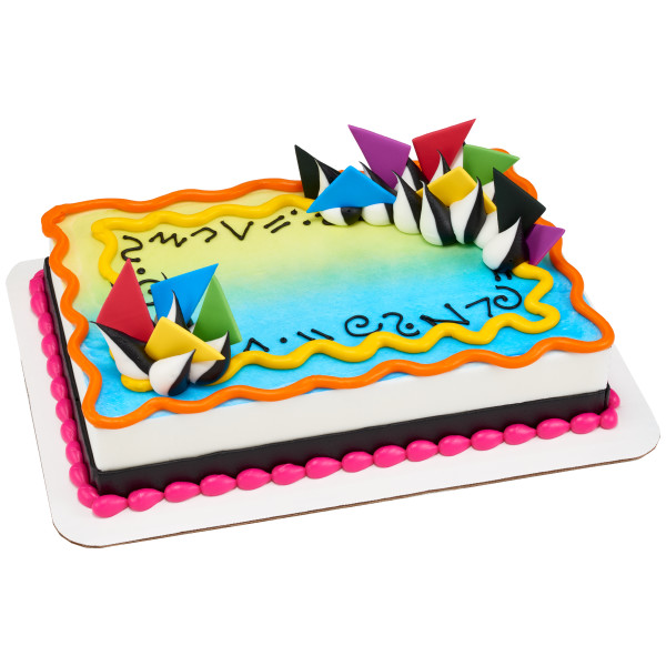 Bright Triangles Sweet Décor™ Edible Decorations