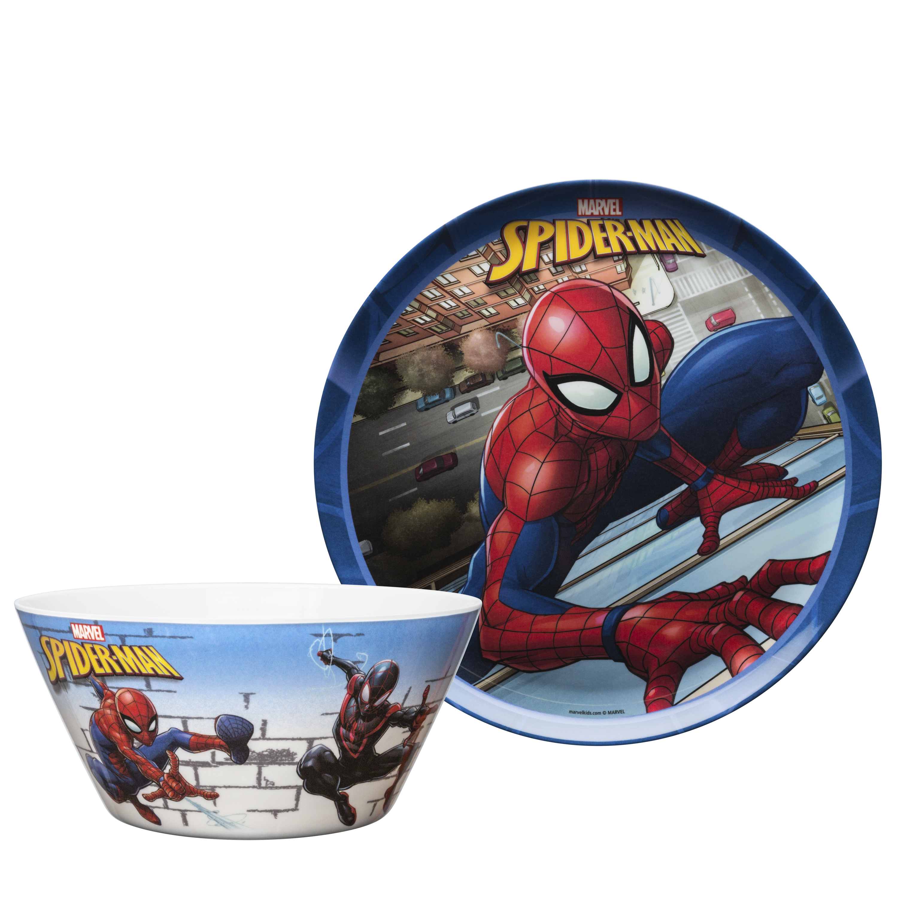Marvel Comics Dinnerware Set, Spider-Man, 2-piece set slideshow image 2