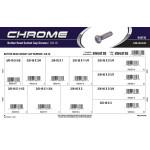 "Chrome Button-Head Socket Cap Screws Assortment (3/8""-16 Thread)"